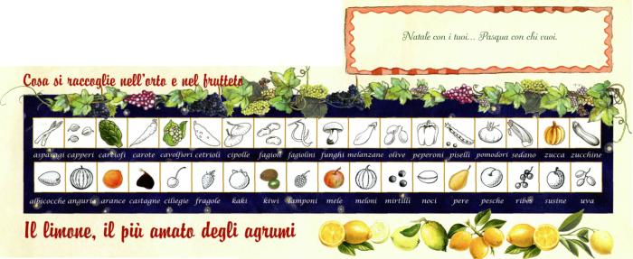 Raccolte frutta e ortaggi di dicembre